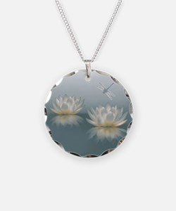 Lotus and Dragonfly Necklace