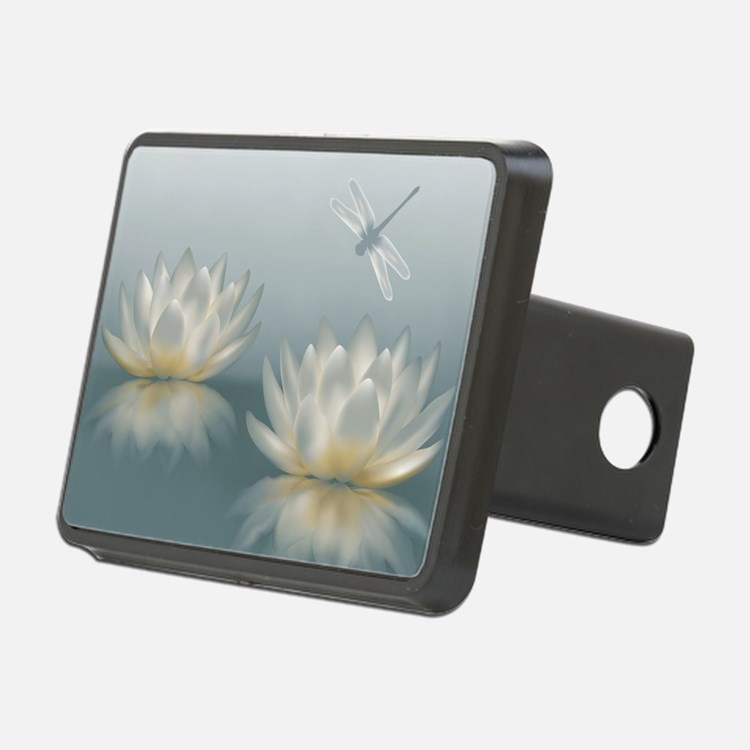 Lotus and Dragonfly Hitch Cover