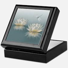 Lotus and Dragonfly Keepsake Box