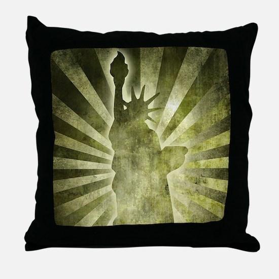 Liberty Statue Throw Pillow