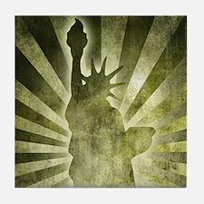 Liberty Statue Tile Coaster