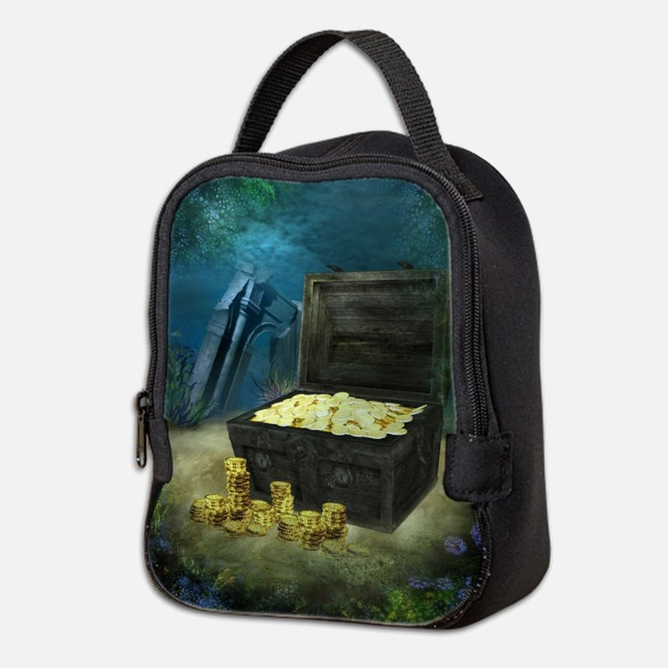 Treasure Chest Neoprene Lunch Bag