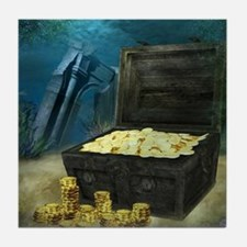 Treasure Chest Tile Coaster