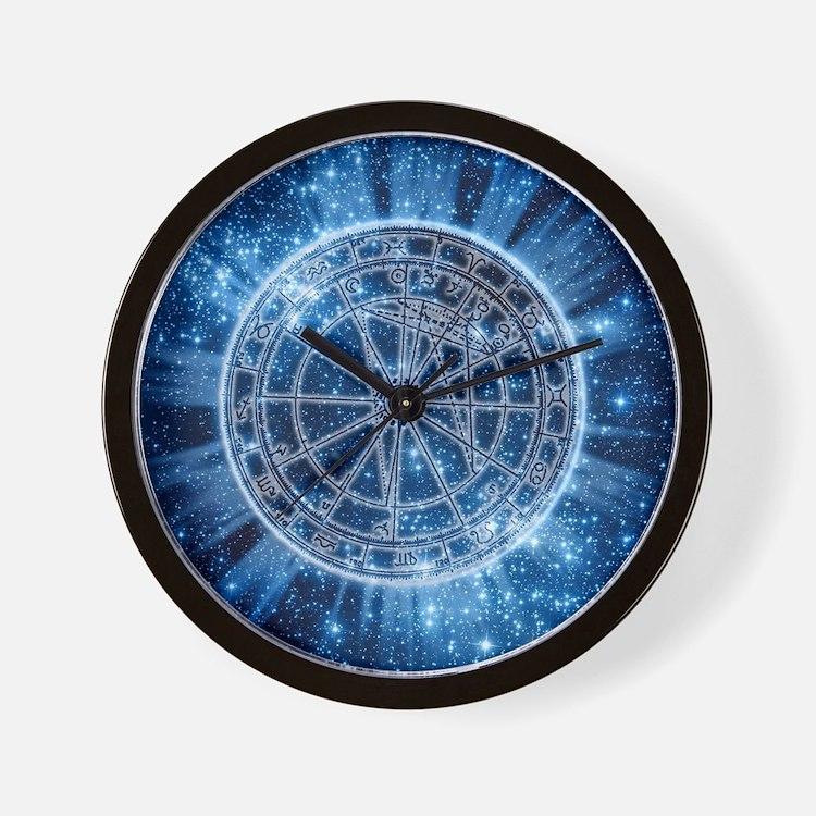 Mystical Zodiac Wall Clock