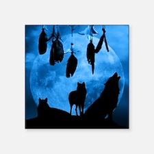 "Dreamcatcher Wolves Square Sticker 3"" x 3"""