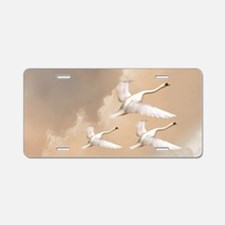 Flying Swans Aluminum License Plate