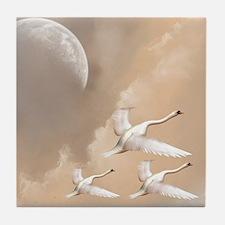 Flying Swans Tile Coaster