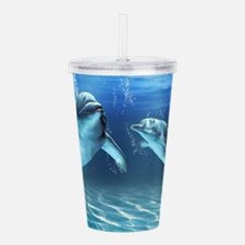 Dolphin Dream Acrylic Double-wall Tumbler