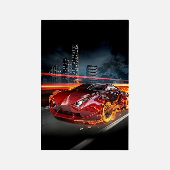 Hot Car Fantasy Rectangle Magnet