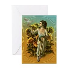 Art Nouveau Daytime Greeting Cards