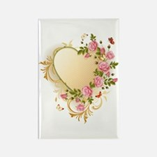 Victorian Heart Rectangle Magnet