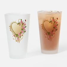 Victorian Heart Drinking Glass