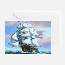 Sail Ship Painting Greeting Card
