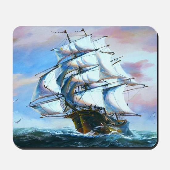 Sail Ship Painting Mousepad