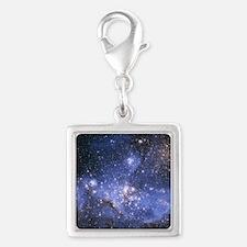 Magellan Nebula Silver Square Charm