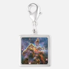 Carina Nebula Silver Square Charm