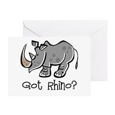 Got Rhino? Greeting Card