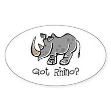 Got Rhino? Oval Decal