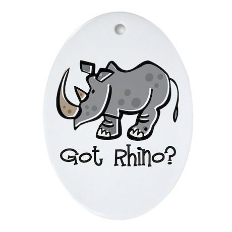 Got Rhino? Oval Ornament