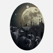 Gothic Crows Oval Ornament