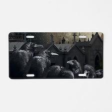 Gothic Crows Aluminum License Plate