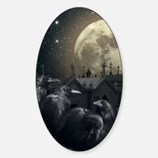 Gothic Crows Sticker (Oval)
