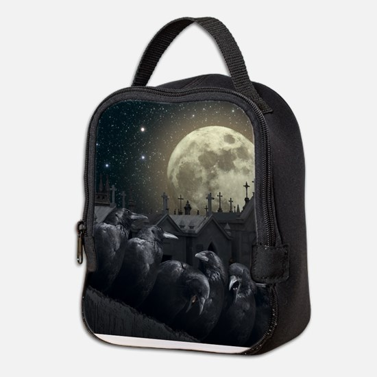Gothic Crows Neoprene Lunch Bag
