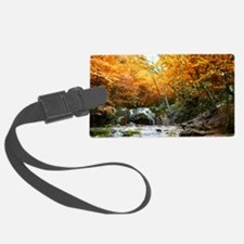 Autumn Forest Waterfall Luggage Tag