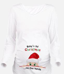 1st Christmas Long Sleeve Maternity T-Shirt