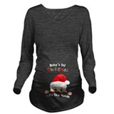First christmas Dark Long Sleeve Maternity T-Shirt