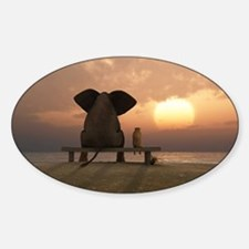 Elephant and Dog Friends Decal