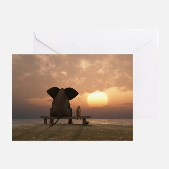Elephant and Dog Friends Greeting Cards (Pk of 10)