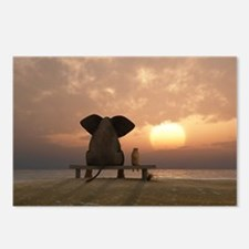Elephant and Dog Friends Postcards (Package of 8)