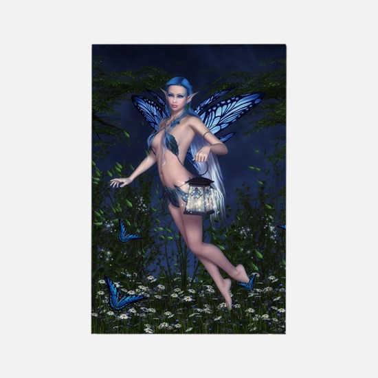 Blue Fairy Rectangle Magnet