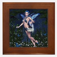 Blue Fairy Framed Tile