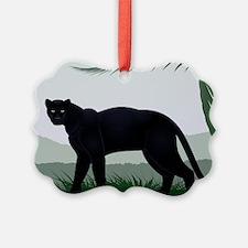 Black Jungle Panther Ornament