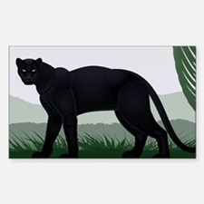 Black Jungle Panther Decal