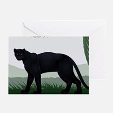 Black Jungle Panther Greeting Cards (Pk of 20)