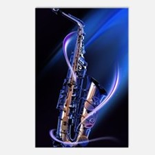 Blue Saxophone Postcards (Package of 8)