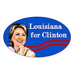 Louisiana for Clinton bumper sticker
