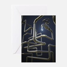 Water Pipeline Maze Greeting Card