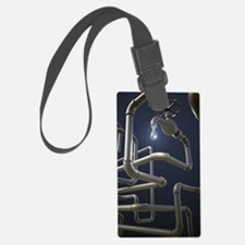 Water Pipeline Maze Luggage Tag