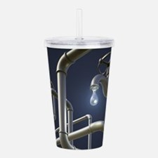 Water Pipeline Maze Acrylic Double-wall Tumbler