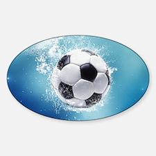 Soccer Water Splash Sticker (Oval)