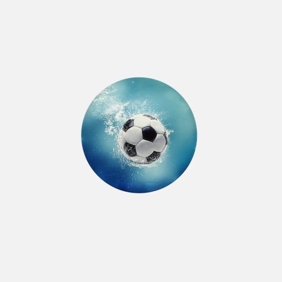 Soccer Water Splash Mini Button