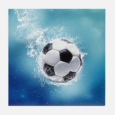 Soccer Water Splash Tile Coaster