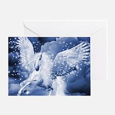 Sparkling White Pegasus Greeting Card