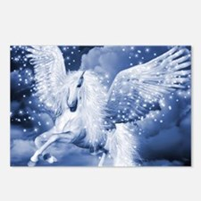Sparkling White Pegasus Postcards (Package of 8)