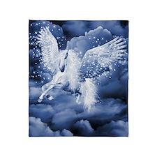 Sparkling White Pegasus Throw Blanket