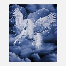 Sparkling White Pegasus Throw Blanket